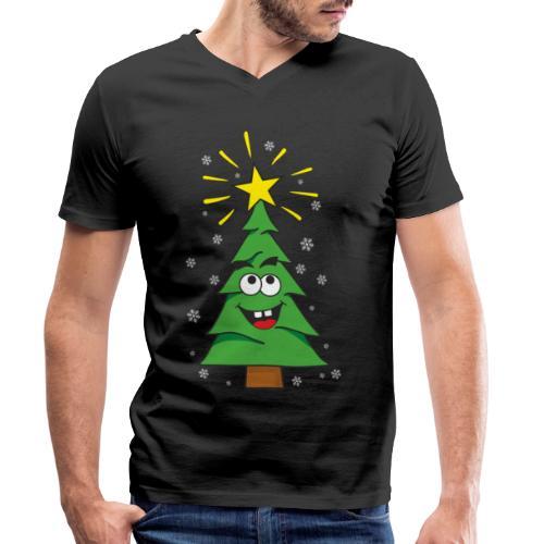 Árbol de navidad - Camiseta ecológica hombre con cuello de pico de Stanley & Stella