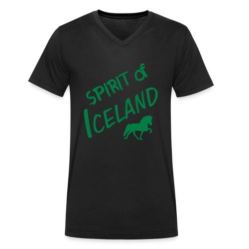 4gaits ruecken - Männer Bio-T-Shirt mit V-Ausschnitt von Stanley & Stella
