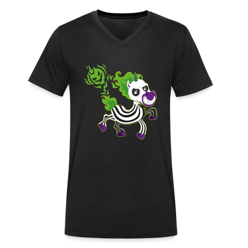 Halloween Unicorn - Halloween Geschenkidee - Männer Bio-T-Shirt mit V-Ausschnitt von Stanley & Stella