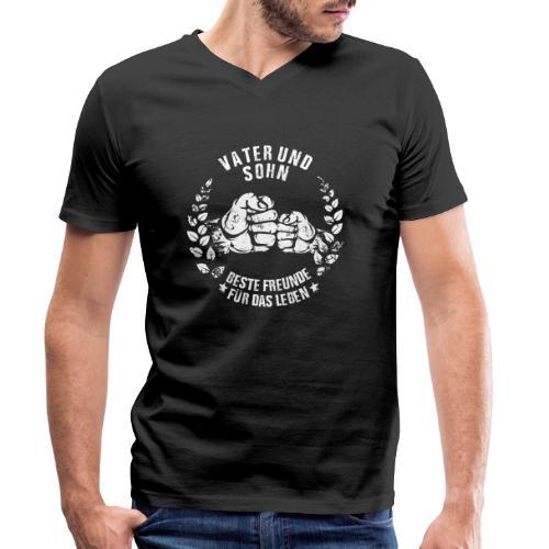 Vater und Sohn beste Freunde für das Leben - Männer Bio-T-Shirt mit V-Ausschnitt von Stanley & Stella