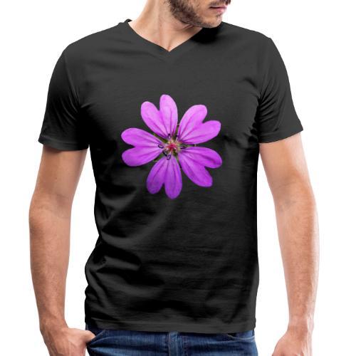 TIAN GREEN Garten - Storchschnabel 2020 01 - Männer Bio-T-Shirt mit V-Ausschnitt von Stanley & Stella