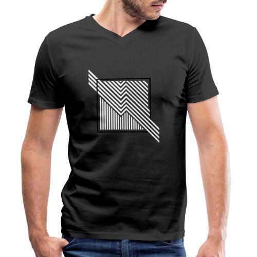 Lines in the dark - Men's Organic V-Neck T-Shirt by Stanley & Stella
