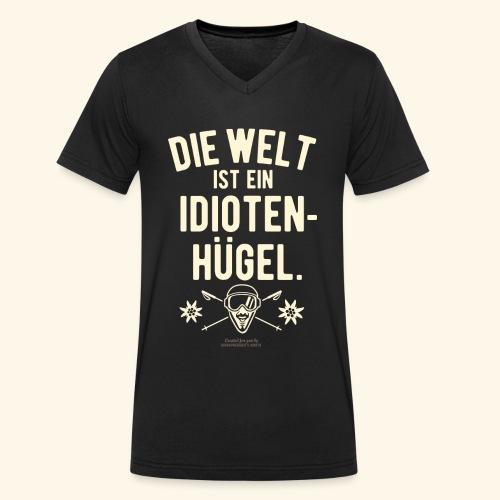 Apres Ski T Shirt Design Idiotenhügel - Männer Bio-T-Shirt mit V-Ausschnitt von Stanley & Stella