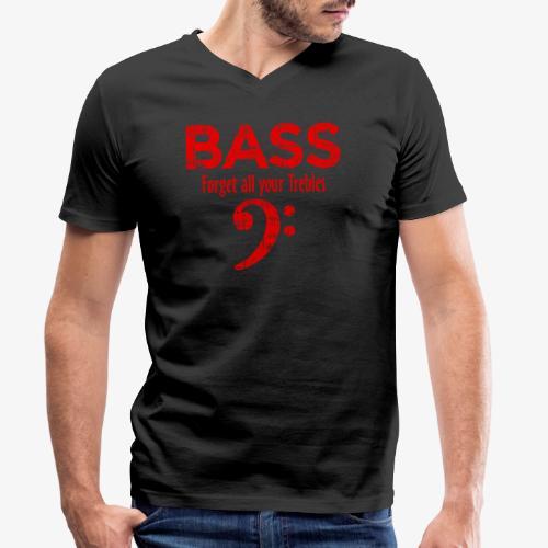 BASS Forget all your trebles (Vintage/Rot) - Männer Bio-T-Shirt mit V-Ausschnitt von Stanley & Stella
