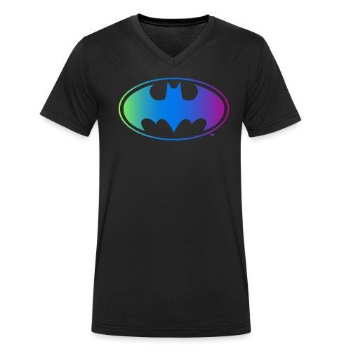 Logo Rainbow - Männer Bio-T-Shirt mit V-Ausschnitt von Stanley & Stella