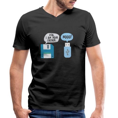 USB I am your Fahter Nerd Computer PC Gamer xD - Männer Bio-T-Shirt mit V-Ausschnitt von Stanley & Stella