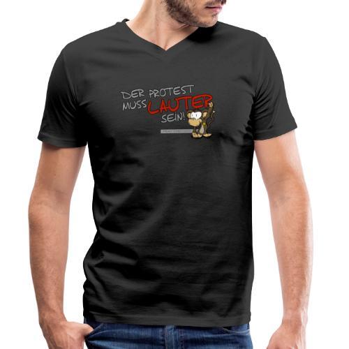 Protest-Äffchen1 - Männer Bio-T-Shirt mit V-Ausschnitt von Stanley & Stella