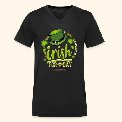 St. Patrick's Day T Shirt Design Irish For A Day - Männer Bio-T-Shirt mit V-Ausschnitt von Stanley & Stella