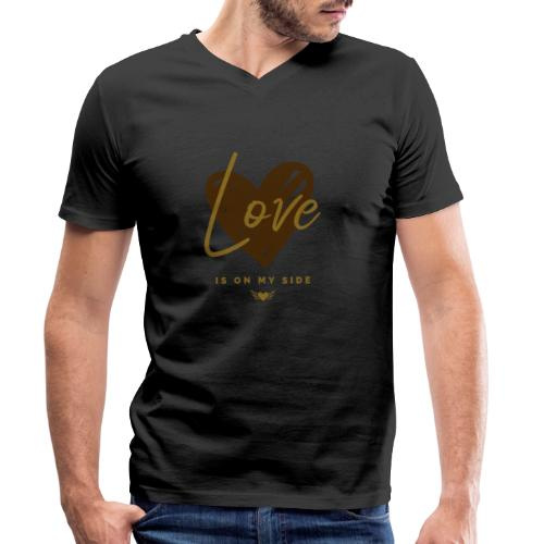 Love is on my Side - Männer Bio-T-Shirt mit V-Ausschnitt von Stanley & Stella