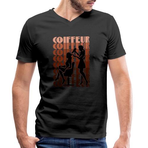 Coiffeur - Männer Bio-T-Shirt mit V-Ausschnitt von Stanley & Stella