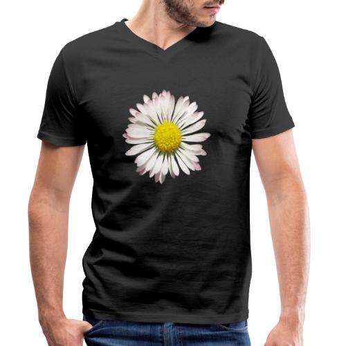 TIAN GREEN Garten - Gänse Blümchen - Männer Bio-T-Shirt mit V-Ausschnitt von Stanley & Stella