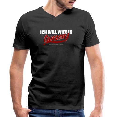 ich will wieder tanzen - Männer Bio-T-Shirt mit V-Ausschnitt von Stanley & Stella