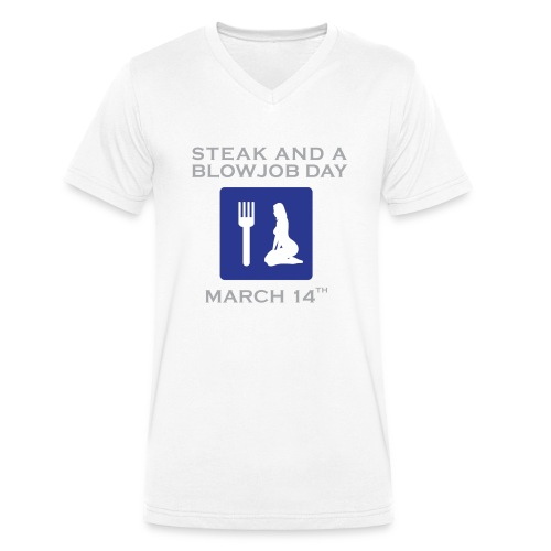 sbjdsign - Men's Organic V-Neck T-Shirt by Stanley & Stella