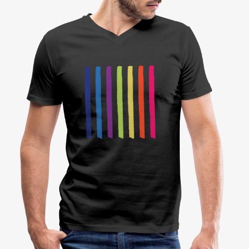 Linee - T-shirt ecologica da uomo con scollo a V di Stanley & Stella