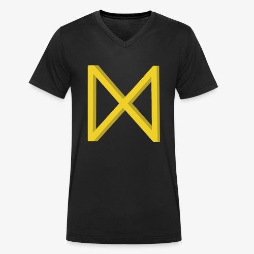 Rune Dagaz? Verdrehung von Extinction Rebellion? - Männer Bio-T-Shirt mit V-Ausschnitt von Stanley & Stella