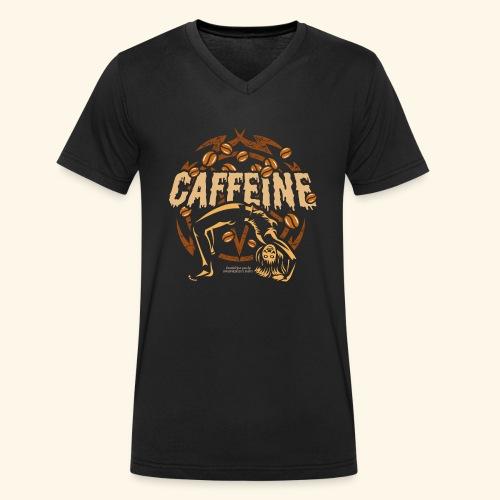 Kaffee T Shirt - Männer Bio-T-Shirt mit V-Ausschnitt von Stanley & Stella