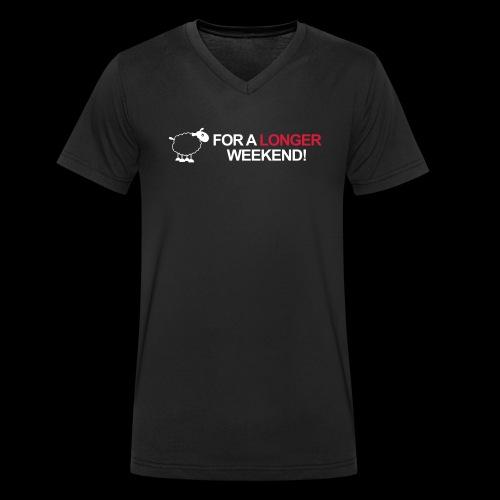For a longer weekend - Männer Bio-T-Shirt mit V-Ausschnitt von Stanley & Stella