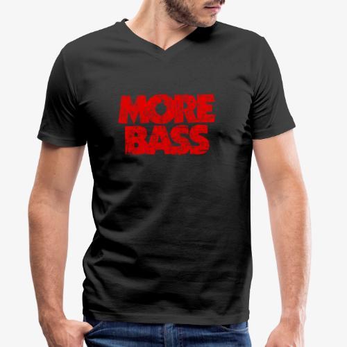 More Bass (Vintage/Rot) Bassist Bassisten - Männer Bio-T-Shirt mit V-Ausschnitt von Stanley & Stella