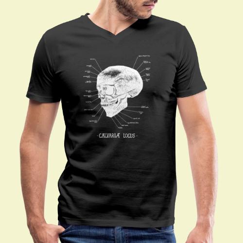 Calvatiae Locus - White - T-shirt ecologica da uomo con scollo a V di Stanley & Stella