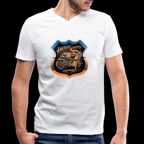 AMERICAN CLASSIC - Männer Bio-T-Shirt mit V-Ausschnitt von Stanley & Stella