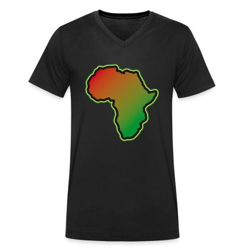 Afrika Big Five Africa Schwarzer Kontinent Safari - Men's Organic V-Neck T-Shirt by Stanley & Stella