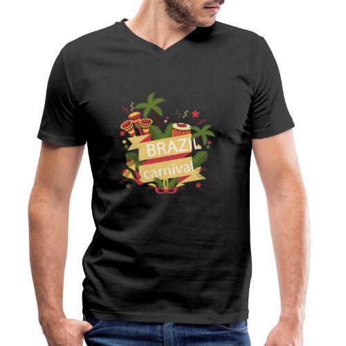 Encontro Brasil Carnival do Rio - Men's Organic V-Neck T-Shirt by Stanley & Stella