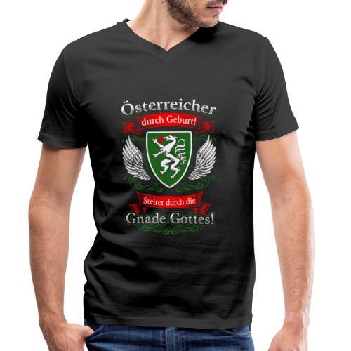 Steirer durch die Gnade Gottes Geschenk Steiermark - Männer Bio-T-Shirt mit V-Ausschnitt von Stanley & Stella