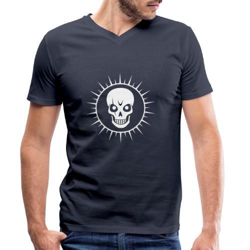 Skull - Men's Organic V-Neck T-Shirt by Stanley & Stella