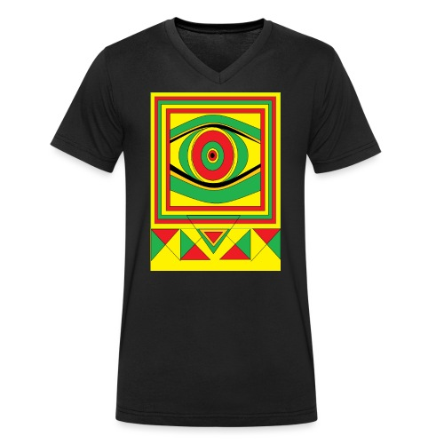 ALL seeing eye RASTA burn down babylon Original - Mannen bio T-shirt met V-hals van Stanley & Stella