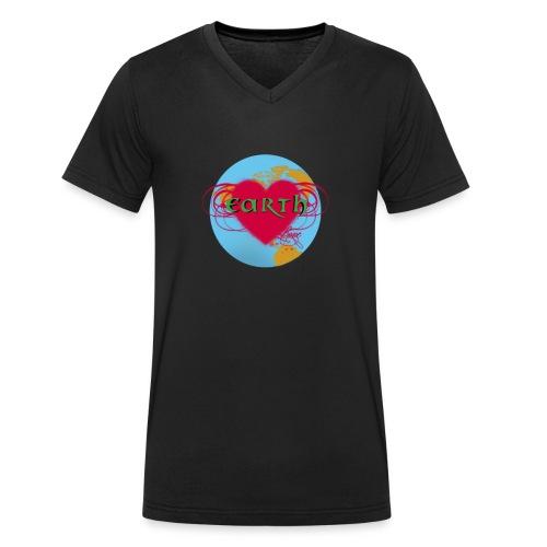 earth love - Männer Bio-T-Shirt mit V-Ausschnitt von Stanley & Stella