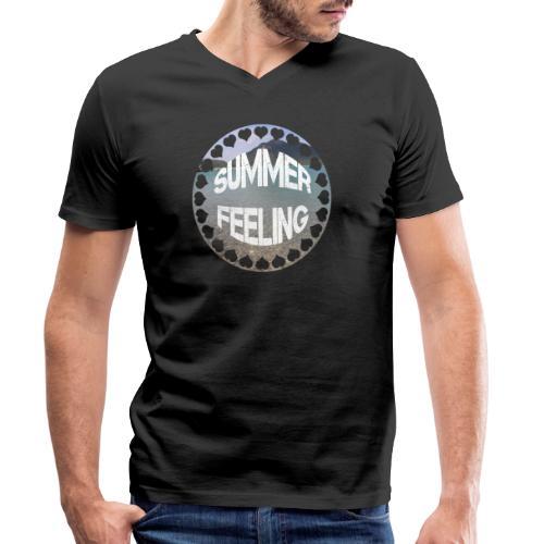 LIMITED SUMMER FEELING Schriftzug - Männer Bio-T-Shirt mit V-Ausschnitt von Stanley & Stella