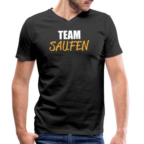 Team saufen Shirt - Männer Bio-T-Shirt mit V-Ausschnitt von Stanley & Stella