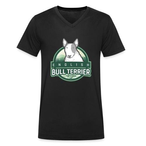 English Bull Terrier FOREST - Männer Bio-T-Shirt mit V-Ausschnitt von Stanley & Stella
