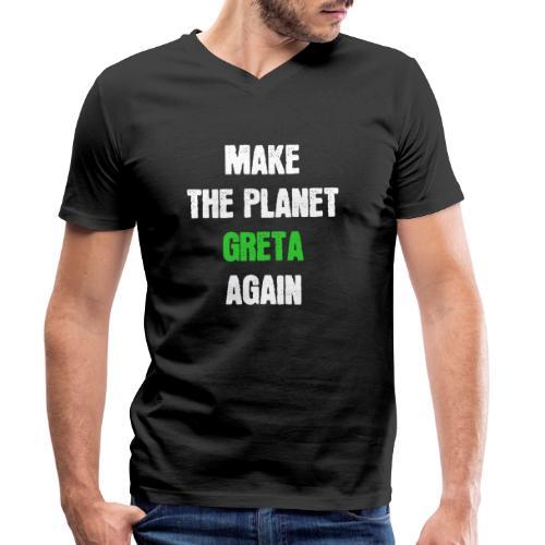 Greta Umweltschutz Welt Klimaschutz Klimawandel - Männer Bio-T-Shirt mit V-Ausschnitt von Stanley & Stella
