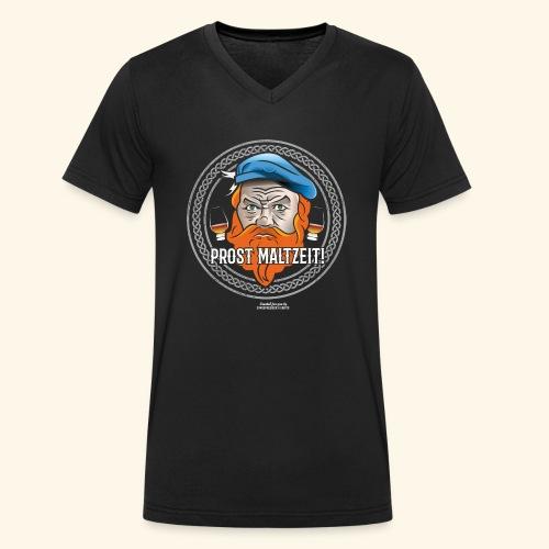 Whisky T Shirt Design Prost Maltzeit - Männer Bio-T-Shirt mit V-Ausschnitt von Stanley & Stella