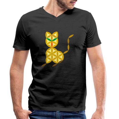 The Kitten Of Life - Sacred Animals - Men's Organic V-Neck T-Shirt by Stanley & Stella