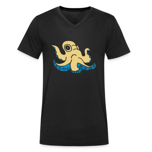 Krake octopus Tintenfisch squid ocean water wasser - Männer Bio-T-Shirt mit V-Ausschnitt von Stanley & Stella
