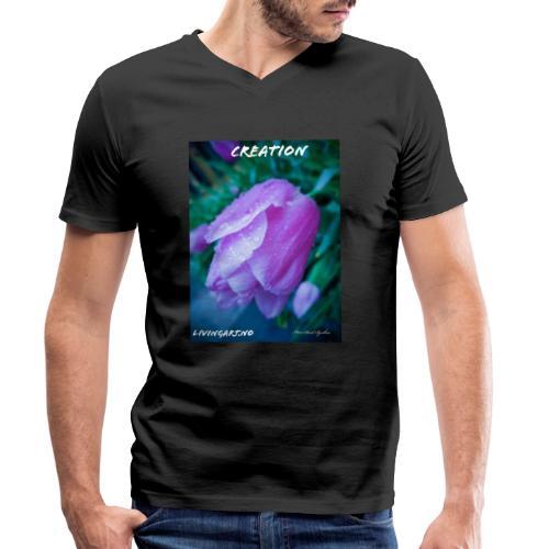 Creation - Økologisk T-skjorte med V-hals for menn fra Stanley & Stella