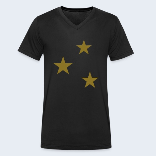 3 Stars - Mannen bio T-shirt met V-hals van Stanley & Stella