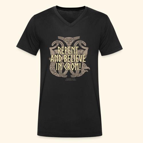 Crom T Shirt - Männer Bio-T-Shirt mit V-Ausschnitt von Stanley & Stella