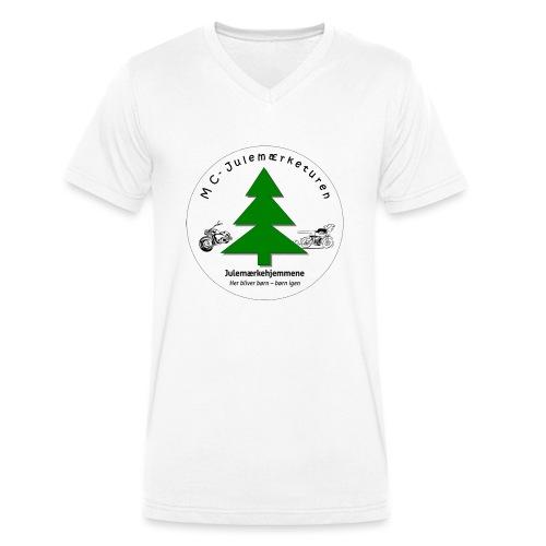 MCJul - Økologisk Stanley & Stella T-shirt med V-udskæring til herrer