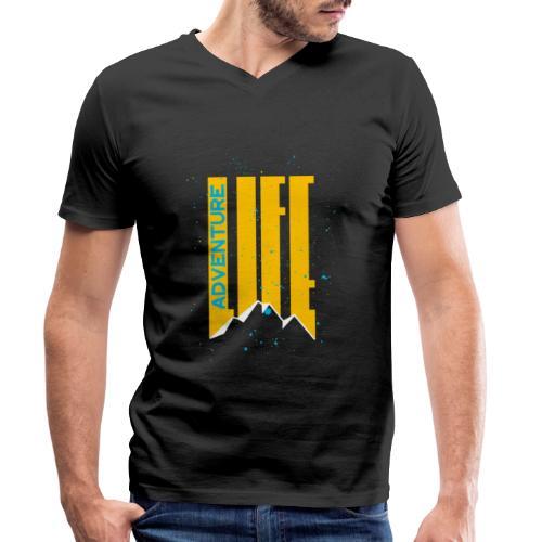 Adventure Life Wandern Klettern Mountain Outdoor - Männer Bio-T-Shirt mit V-Ausschnitt von Stanley & Stella