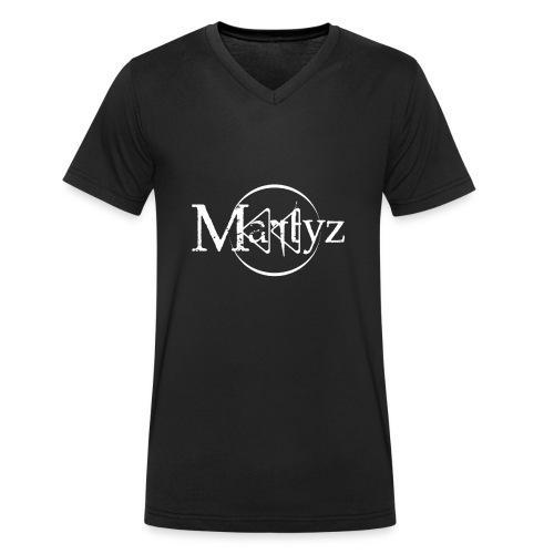 MARTYZ Logo blanc - T-shirt bio col V Stanley & Stella Homme
