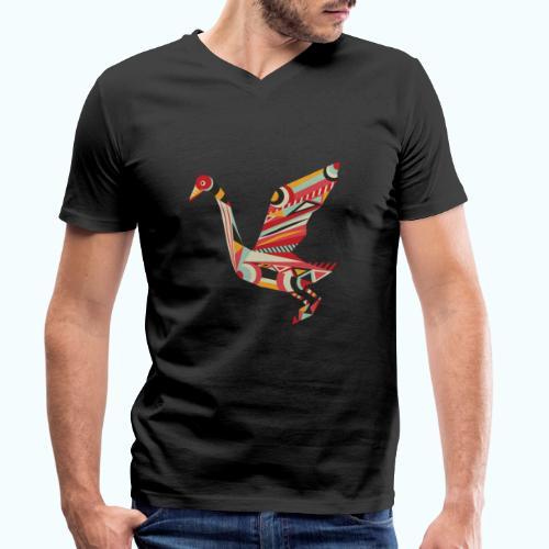 Origami bird Japanese - Men's Organic V-Neck T-Shirt by Stanley & Stella