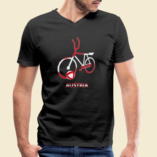 Radball | Austria Rad - Männer Bio-T-Shirt mit V-Ausschnitt von Stanley & Stella