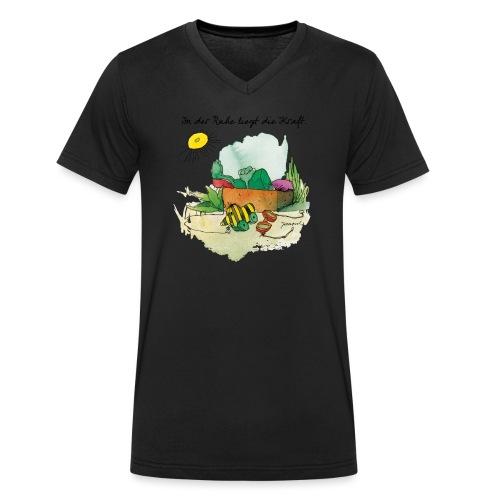 Janoschs 'In der Ruhe liegt die Kraft' - Männer Bio-T-Shirt mit V-Ausschnitt von Stanley & Stella