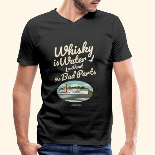 Whisky Is Water Brennerei - Männer Bio-T-Shirt mit V-Ausschnitt von Stanley & Stella