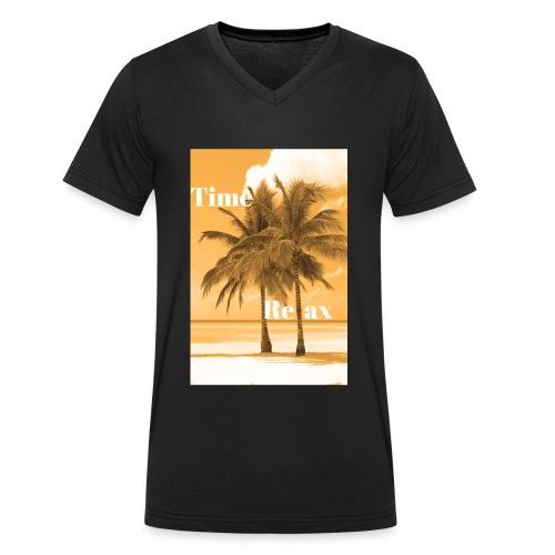 Time to Relax - Männer Bio-T-Shirt mit V-Ausschnitt von Stanley & Stella