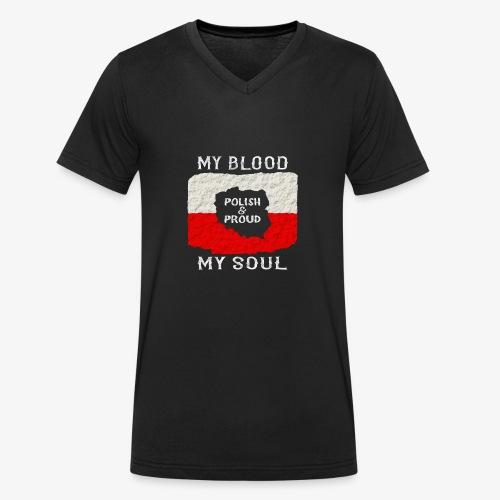 Pole und Stolz - Männer Bio-T-Shirt mit V-Ausschnitt von Stanley & Stella