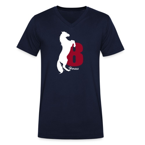White_18Horses - Ekologisk T-shirt med V-ringning herr från Stanley & Stella